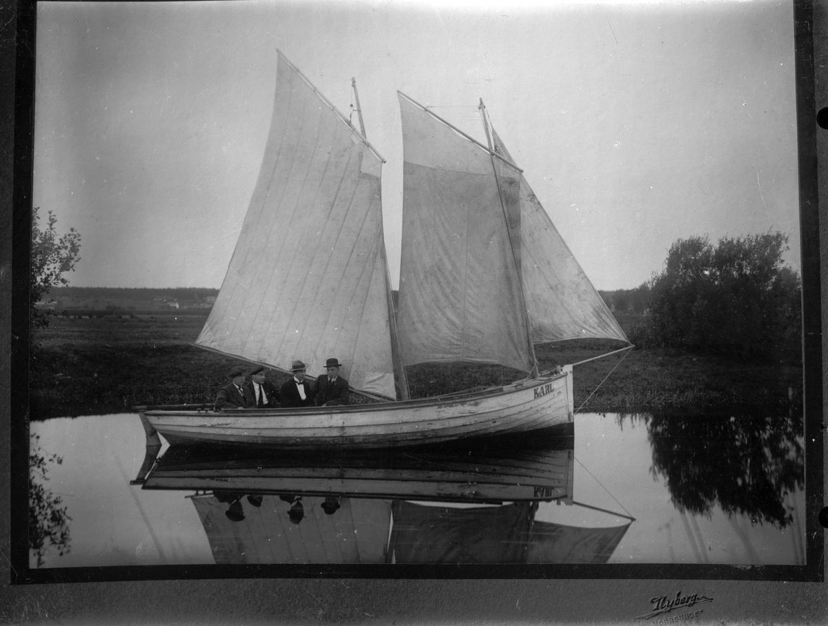 "Segelbåten ""Karl"", loggertrigg. Reprobild."