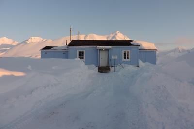 Radio- og kringkastingsstasjoner. Ny- Ålesund, eksteriør etter restaurering