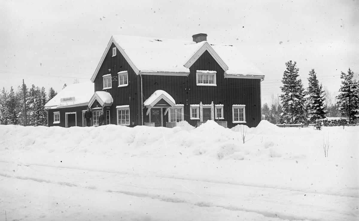 Dalgränsens station, vintermotiv
