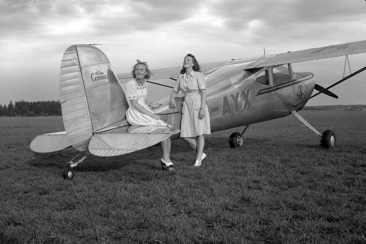 A-B. Gösta Forslund Aviation. Gävle 28 maj 1947.