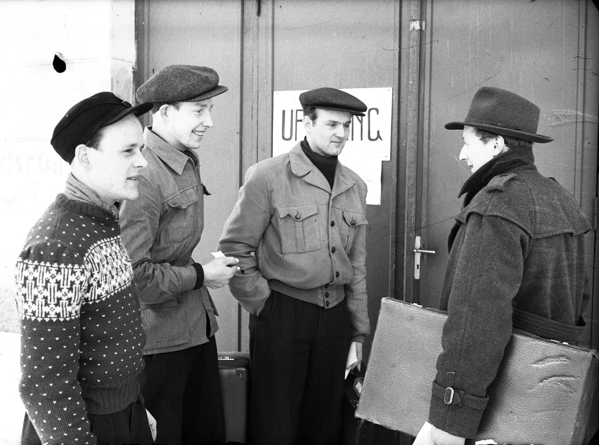 Inryckning av värnpliktiga vid I 14. 10 januari 1947.