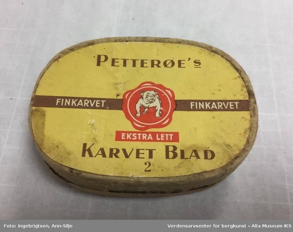 Kjempebra Eske for tobakk - Verdensarvsenter for bergkunst – Alta Museum IKS IQ-97