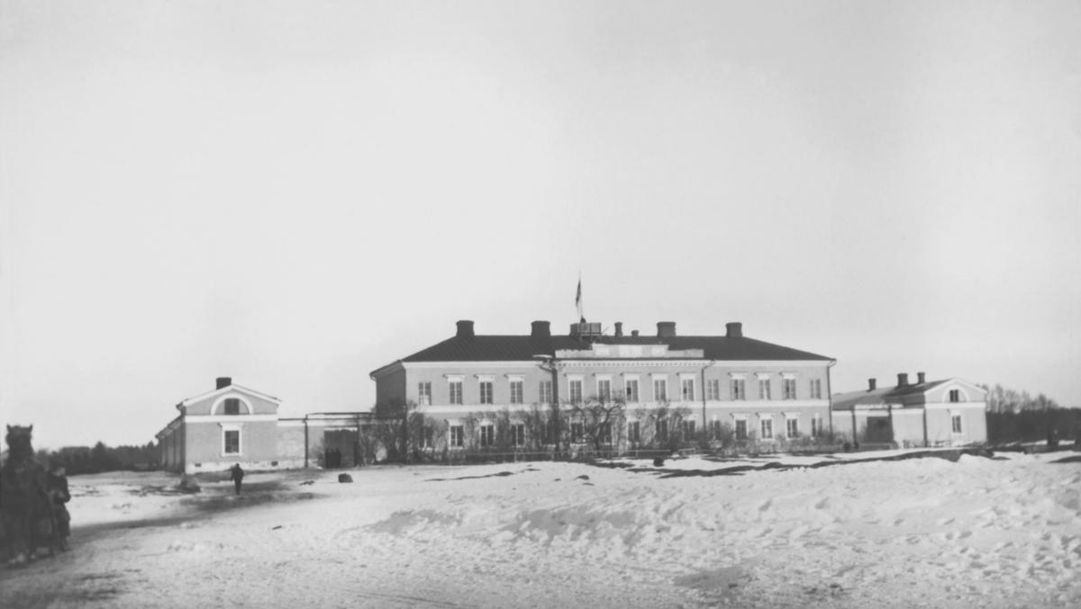 Eckerö Post- och tullhus fotograferat under Ålandsexpeditionen 1918