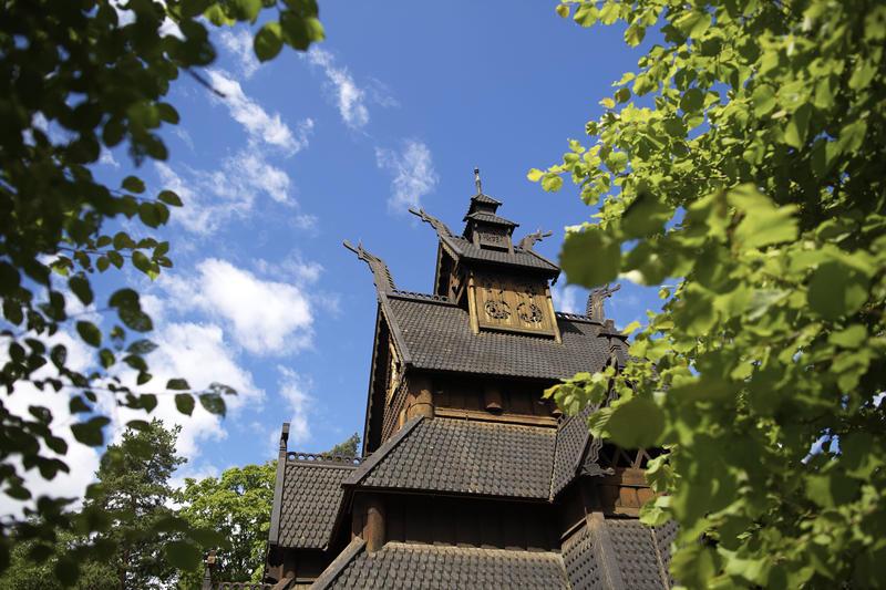 Stavkirke fra Gol på Norsk Folkemuseum