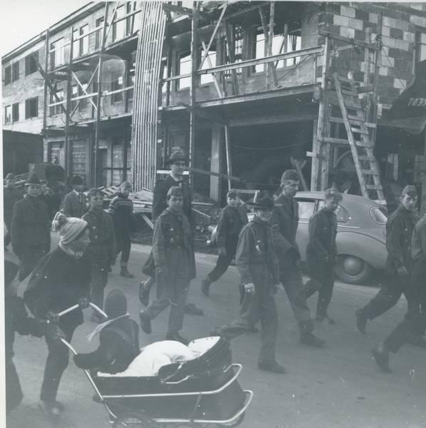 Speidere i Narvik - 17. mai 1958.
