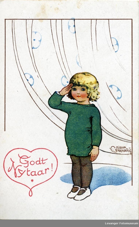 Postkort, nyttårskort tekst: God Nytaar!