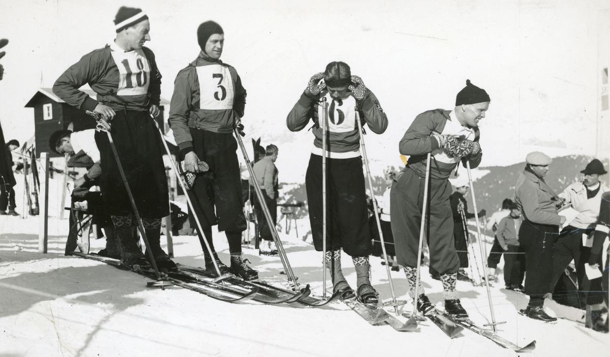 Norwegian skiers during French championship