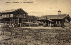 Postkort. Bygninger fra Hallingdal. Hallingdalstunet, NF.