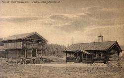 Postkort. Bygninger fra Halingdal. Hallingdalstunet, NF.