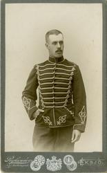 Porträtt av Ivar Oscar Herman Trägårdh, officersvolontär vid