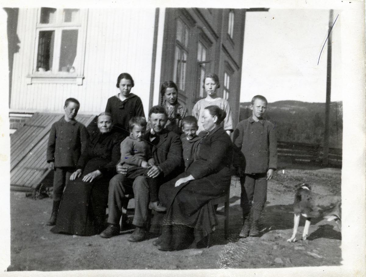 Harald Sørlie med familie.