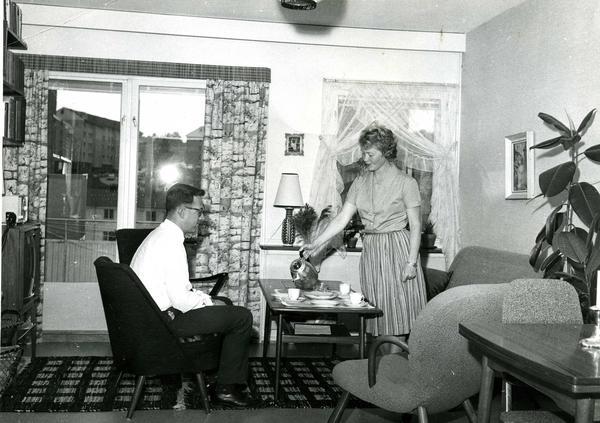 Stue på Manglerud 1964. Foto/Photo