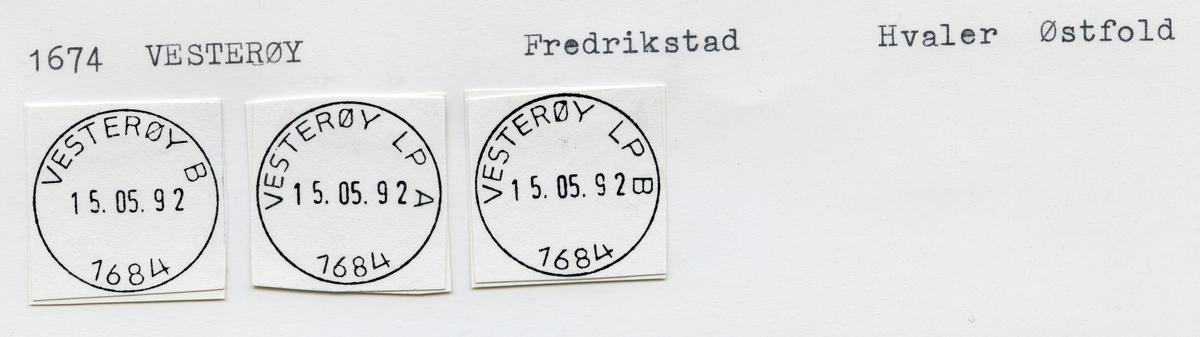 1974 Vesterøy (Vesterøen), Fredrikstad, Hvaler, Østfold