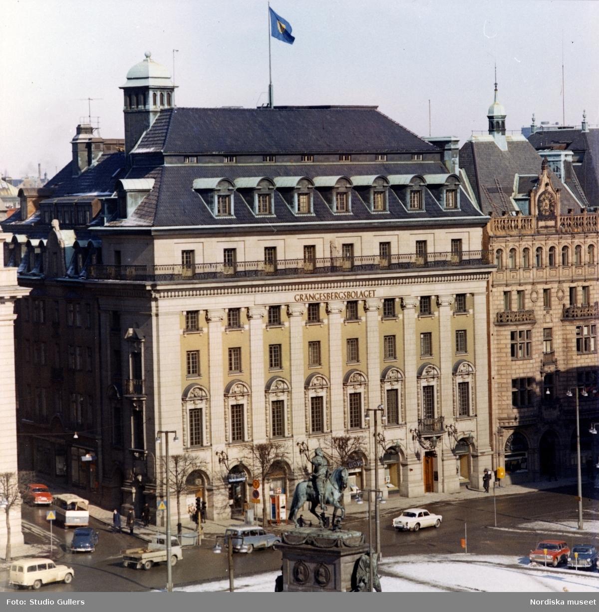 Stockholm. Exteriör av Gustav Adolfs torg 18 då Grängesbergsbolaget ägde fastigheten.