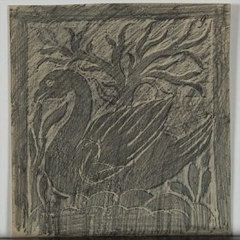 Dekorativa mönster (kalkering från museets stenbord)