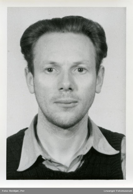 Olaus Salberg Hamsun, medlem av Rinnanbanden, fotografi tatt i forbindelse med rettsaken.