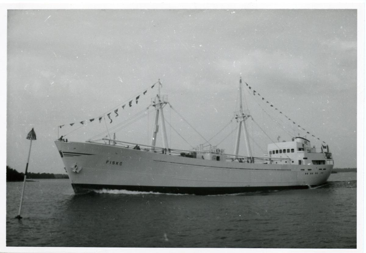 Kylfartyget ms Fiskö ägdes av Firma Gustaf Erikson 1957 - 1970