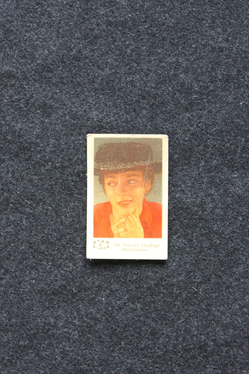 Filmstjärnebild med foto föreställande Dorothy Dandrige