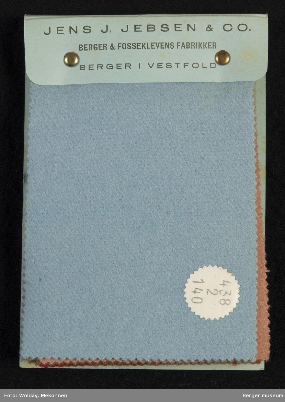 Prøvebok med 12  prøver Drakt/kåpe Kvalitet 438 Stykkfarget