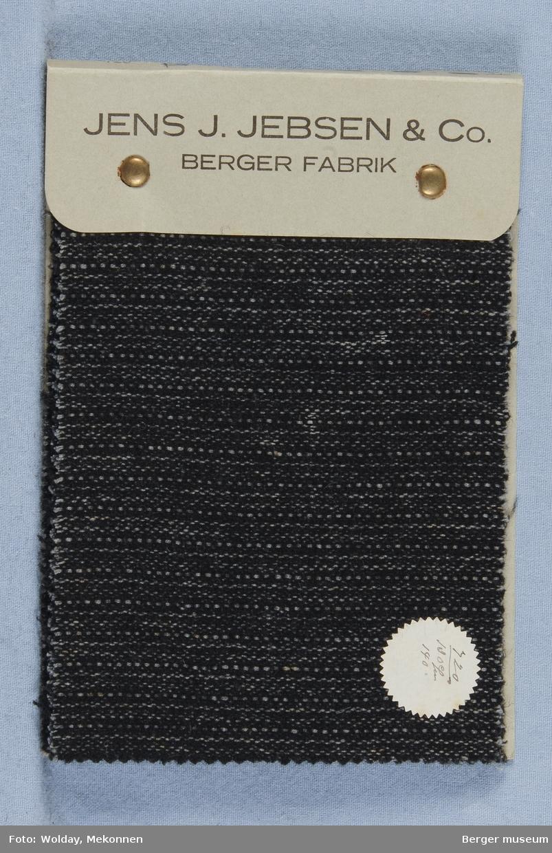 Prøvebok med 4 prøver Union Buksetøy. Berger Fabrik. Kval. 720-730.