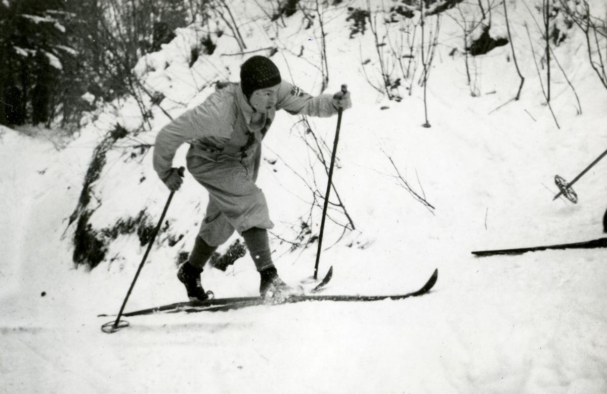 Norwegian athlete during OG at Garmsich