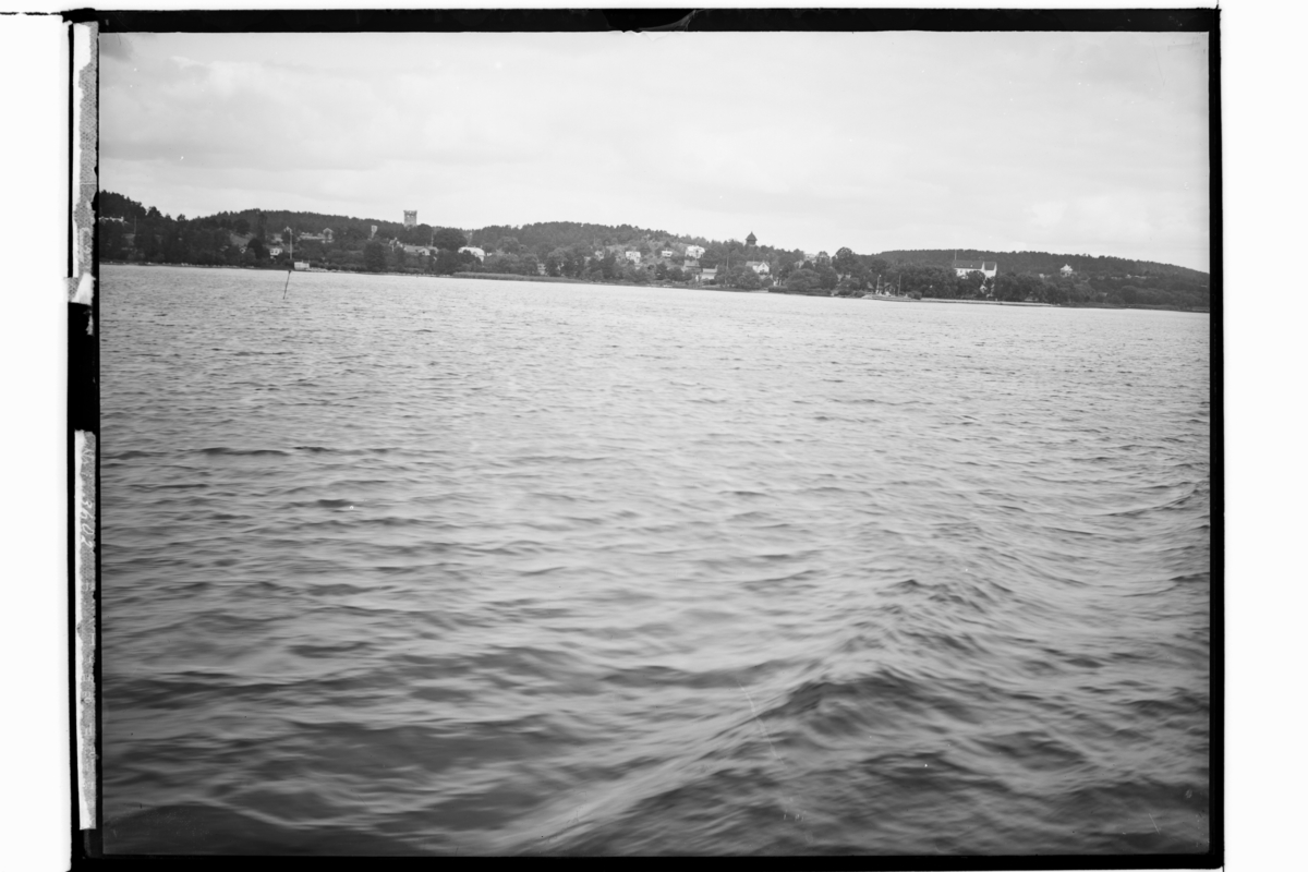 Sigtuna stad, staden från sjösidan.Uppland