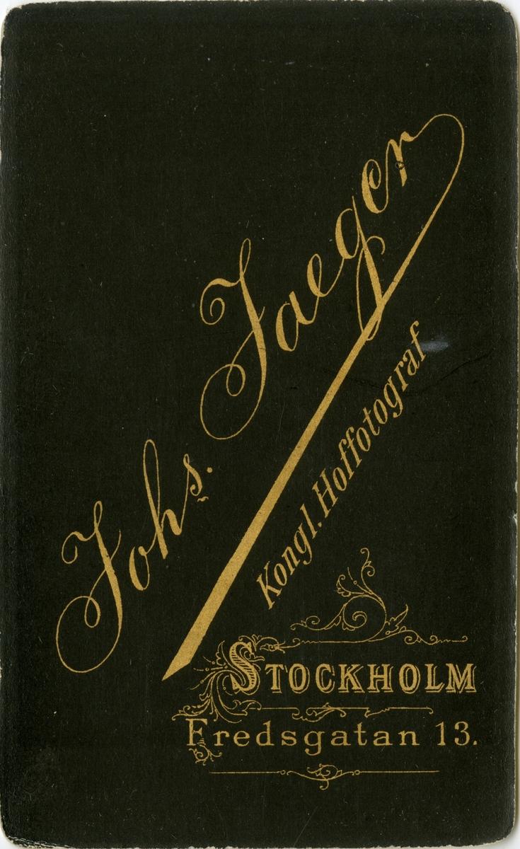Porträtt av Axel Gotthilf Nathanael Brunnström, underlöjtnant vid Skånska husarregementet K 5. Se även bild AMA.0006880 och AMA.0009797.