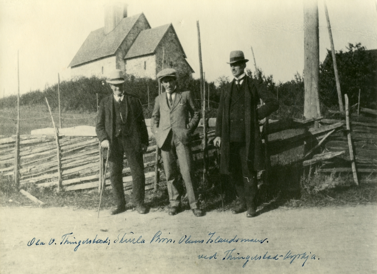 Olaus Islandsmoen, Ole O. Thingelstad og Sturla Børs.