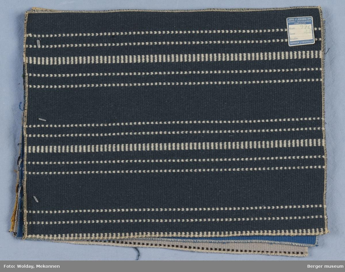 Møbelstoff 5 prøver Tverrstripet - smale striper