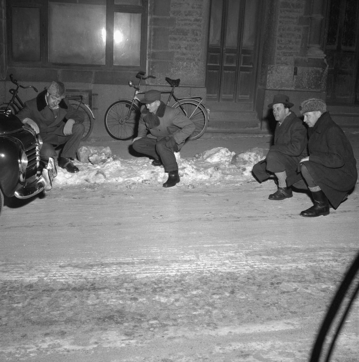 Trafikkontroll. 24 januari 1956.