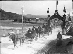 Mosjøen. Kongen og Dronningens første besøk der 1907