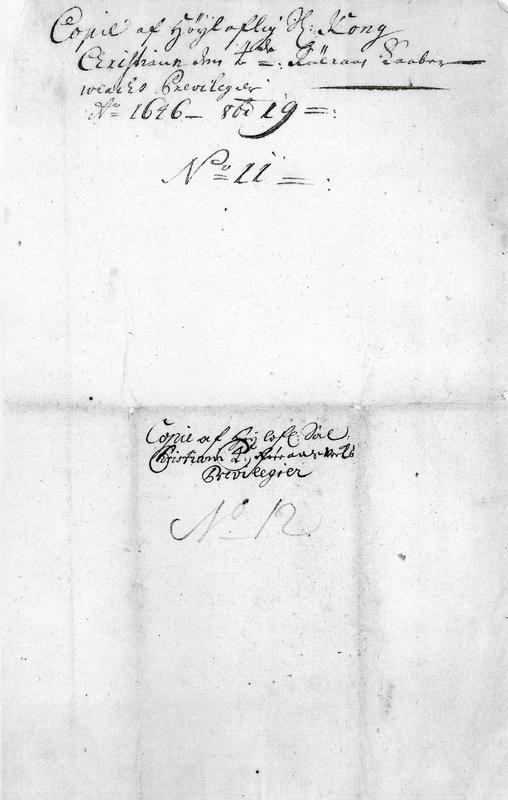 Privilegiebrevet av 1646 (Foto/Photo)