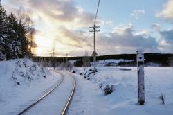 Innkjørsignalstedet, stasjonsgrensen, til Trevatn stasjon (f