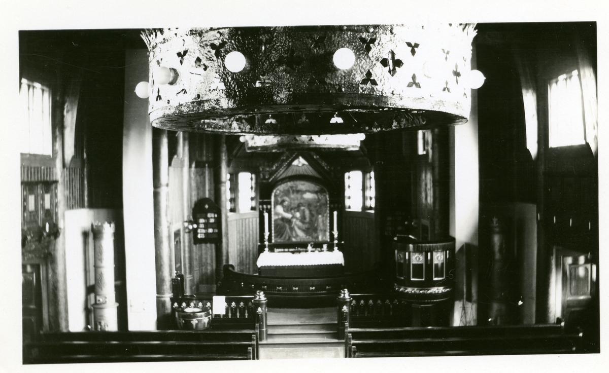 Kirkerommet i Skute kirke, Sødre Land.