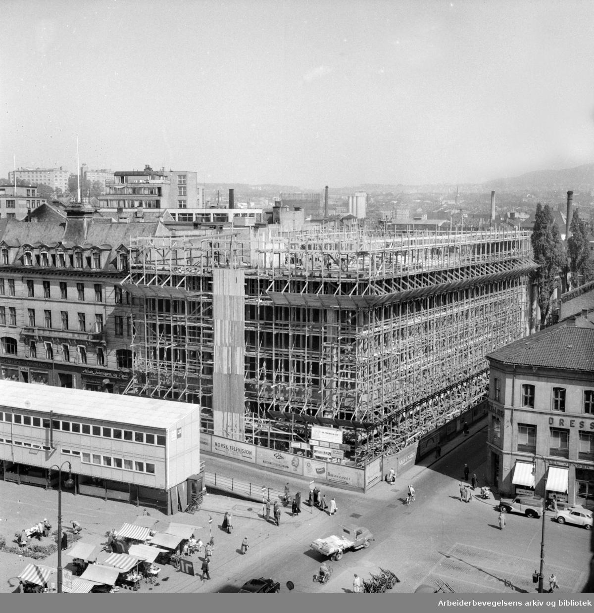 Folkets Hus under bygging, mai 1956