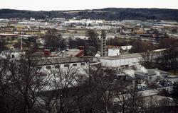 Vy från Störtfjället mot sydväst. Närmast ses industribyggna