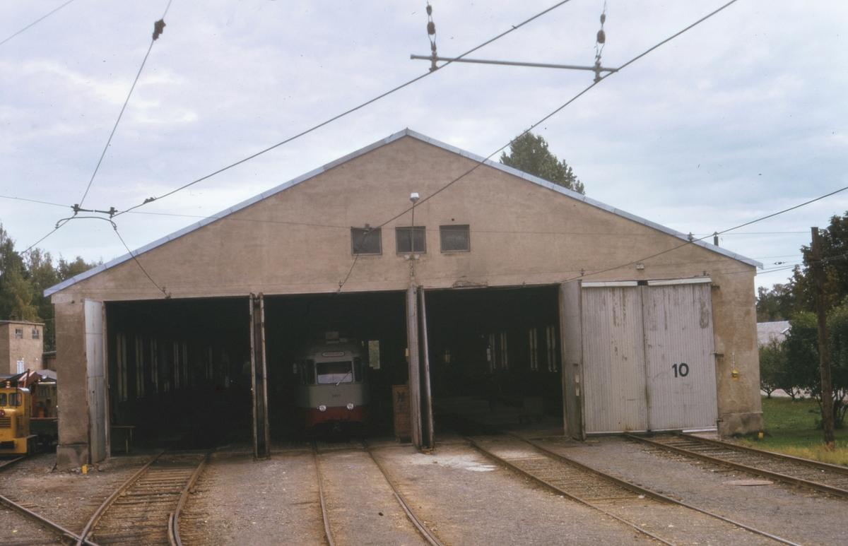 Ekebergbanens trikkestall og verksted på Holtet.