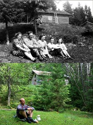 Sætervangen før og nå. Foto/Photo
