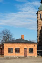 Lusknäppen på Nordiska museets västra sida