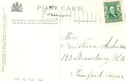 Vykort till Kristina Andersson, född 1865 i Böda, syster til