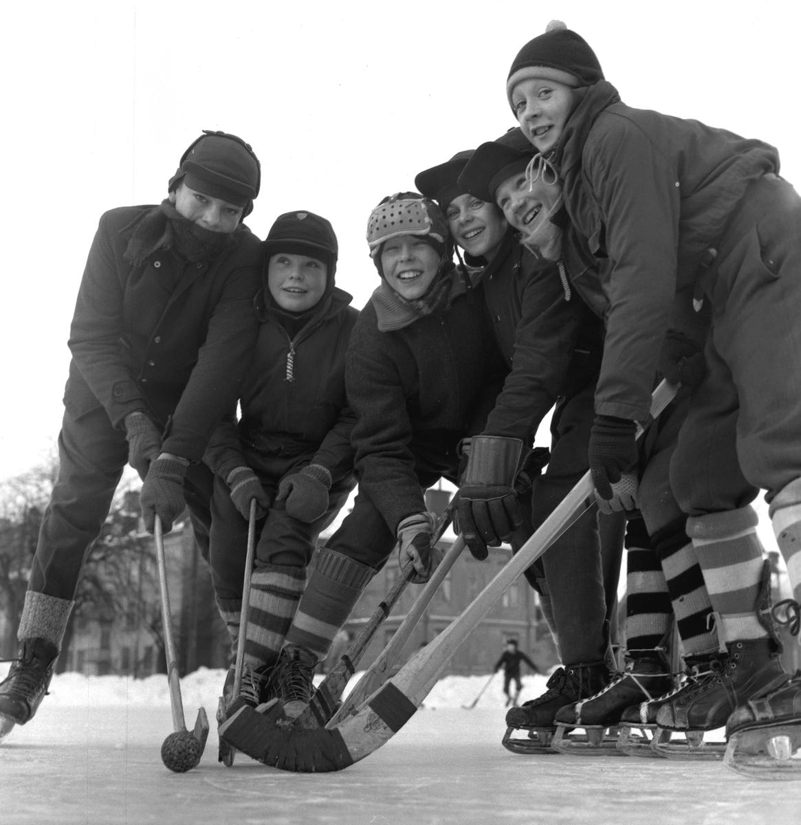 Vintersportlov. 17 februari 1956.