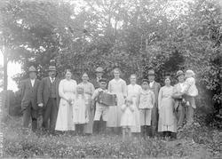 Familjen Rollin och deras Stockholmsfrämmande i trädgården,