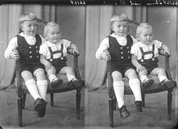 Portrett. To barn. Gutter. Bestillt av Arne Ohm. Nedre Vats.