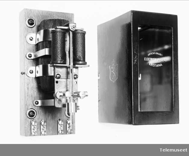 Pendelpolveksler, åpen.  Elektrisk Bureau.