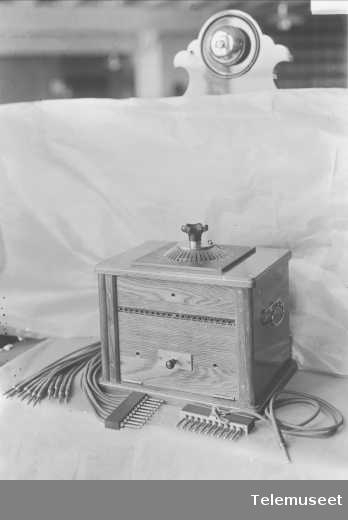 Testapparat Kristiania Telefonanlæg 5.2.1915. Elektrisk Bureau.