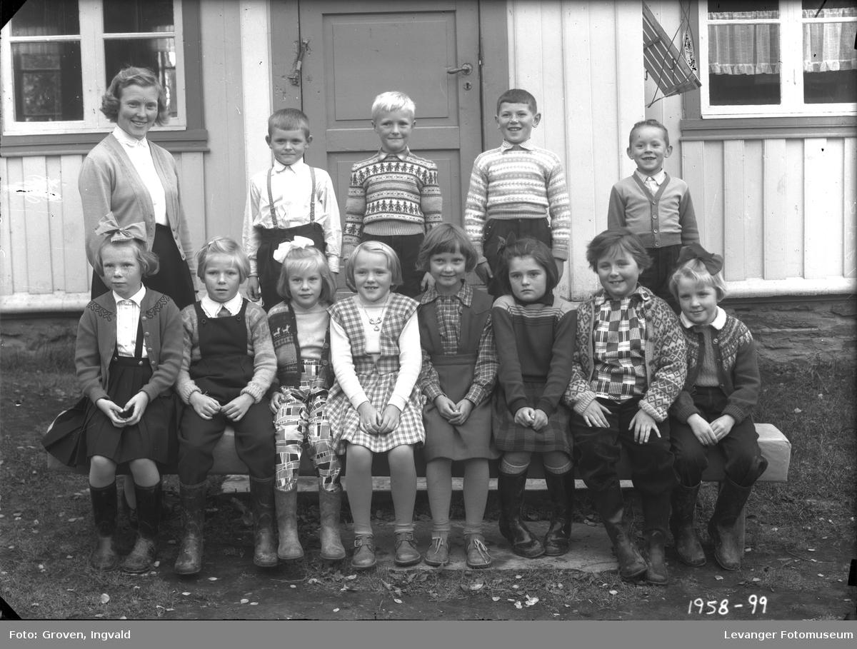 Skolebilde fra folkeskole. Skole ikke kjent.