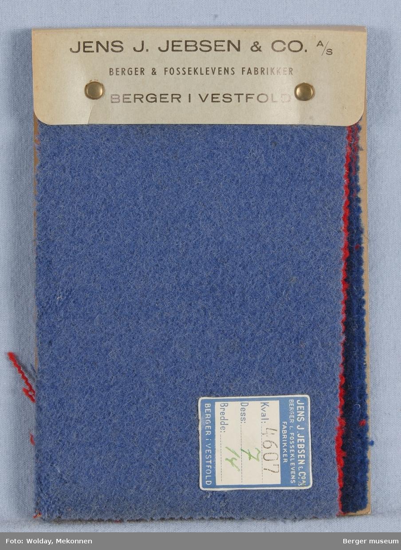Prøvebok med 5 prøver. Kval. 4607 Jakkestoff Stykkfarget