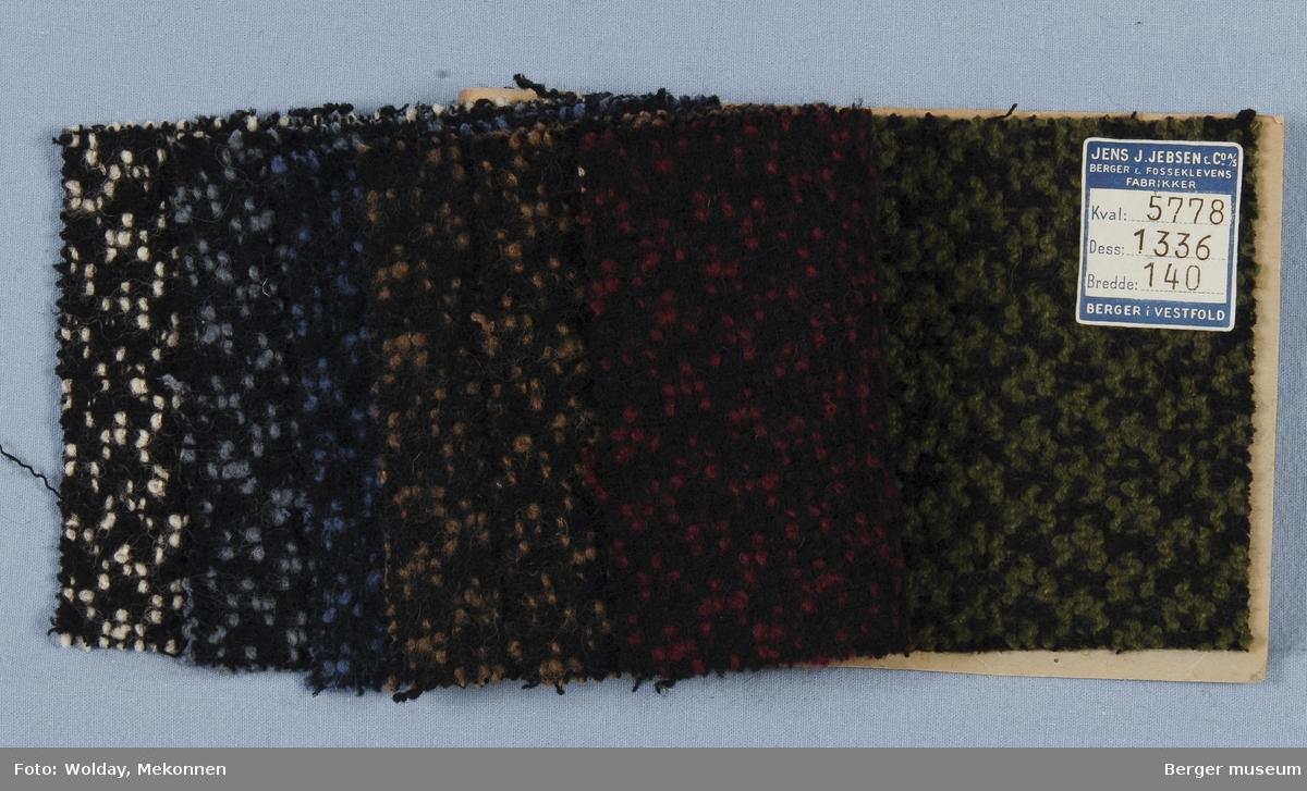 Prøvehefte med 7 prøver Kåpe Kvalitet 5778 Stykkfarget