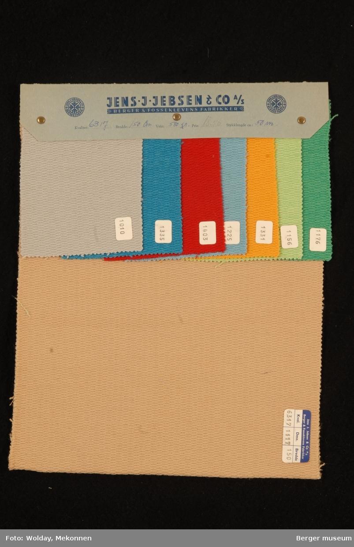 Prøvehefte med 8 prøver Kåpe Kvalitet 6317 Stykkfarget