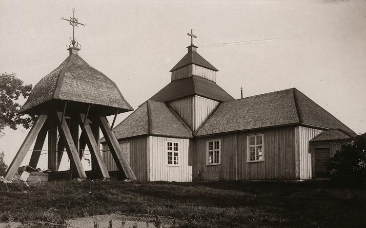 Bildtext: Vättaks socken. Kyrkan.